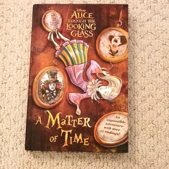Hard cover Alice through the looking glass book